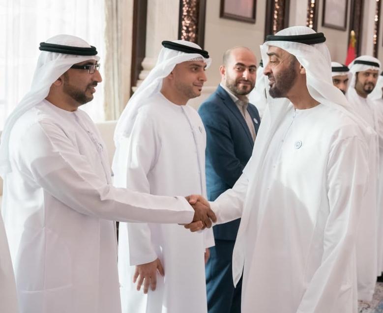 Abu Hamad with Shaikh Mohammed Bin Zayed Al Nahyan